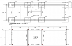 Plant and sections of structures with details plan detail dwg file