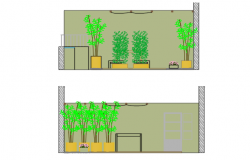 Plant elevation detail dwg file