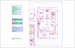 Plant layout of processing industries dwg file