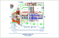 Plant of recycle industrial with architectural view dwg file