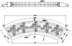 Plant plan and elevation detail dwg file