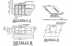 Plate bridge section detail dwg file