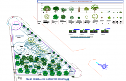 Playground plan view detail dwg file