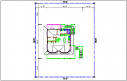 Plot area House plan view detail with dimension plan layout dwg file