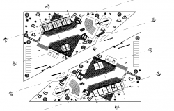 Plot commercial plan detail dwg file