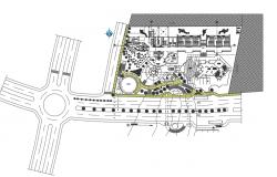 Plot layout detail dwg file