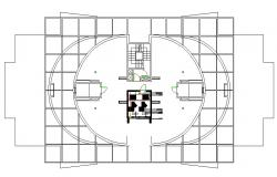 Plot layout elevator detail dwg file