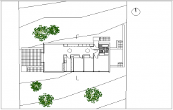 Plot layout plan detail dwg file
