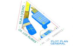 Plot plan general detail dwg file
