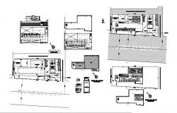 Plotting and site plan details of residential housing dwg file
