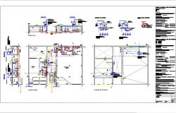 Plumbing and sewage system cad drawing and detail