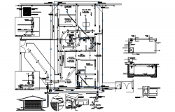 Plumbing layout in the residential house