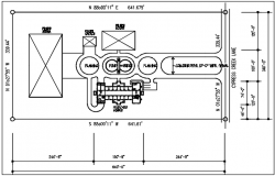 Plumbing plan detail in tank detail dwg file