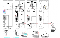 Plumbing sanitary Family health facilities plan autocad file