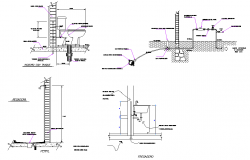 Plumbing sanitary elevation plan detail dwg file