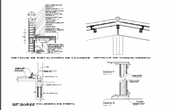 Plumbing section detail dwg file