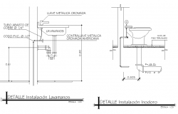 Plumbing sink elevation detail dwg file