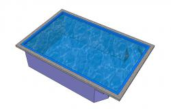 Plung luxuries pool 3d garden furniture cad drawing details skp file