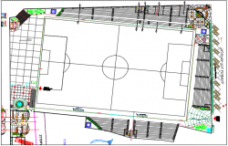 Pocollay stadium plan detail dwg file
