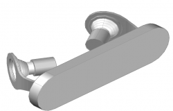 Podium lamp of Phillips 3 D plan autocad file
