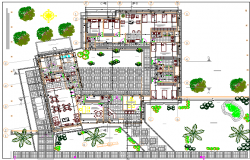 Police Station Architecture Design and Structure Details dwg file