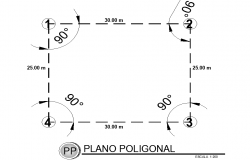 Polygonal plan detail dwg file