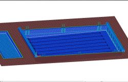 Pool cad 3d drawing