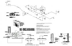 Pool details for storage tanks and cabinet system cad structure dwg file
