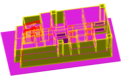 Popular house 3 D plan detail dwg file