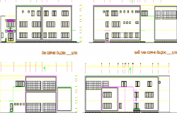 Posh and luxurious building design elevation dwg file