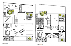 Posh office layout plan dwg file