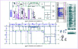 Poultry processing industrial plant plan with capacity of 2000 birds and item schedule dwg file