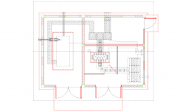 Power house plan with construction view dwg file