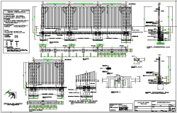 Precast concrete perimeter fence type of university dwg file