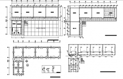 Preliminary school electric and layout plan dwg file