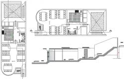 Premise multi-use plan detail dwg file