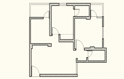 Presentation drawing of house with furniture layout in autocad