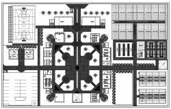 Primary School Plan CAD Drawing