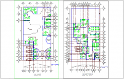 Primary school plan design view for children dwg file