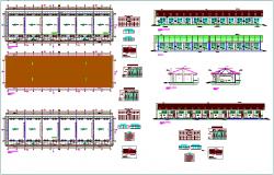 Primary school plan view elevation, door & window detail dwg file