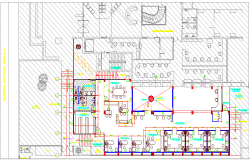 Primax office building architecture layout plan details dwg file