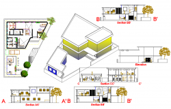 Principle Office Building design dwg file