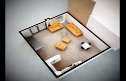 Private  room 3d detail in 3d max file