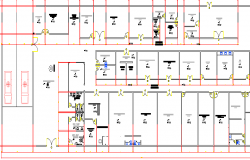 Private Maternity Hospital Architecture Layout dwg file