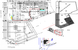 Pro panel liquefied gas installation in a retail store project dwg file