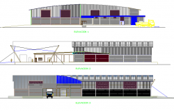 Processing plant elevation detail dwg file