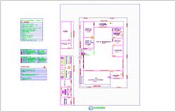 Processing plant plan view dwg file