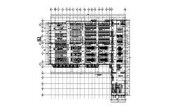 Production plant zone floor plan cad drawing details dwg file