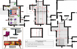 Project Of Interior Design with detailing dwg file