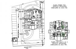 Project drinking water installation in building plan detail dwg file